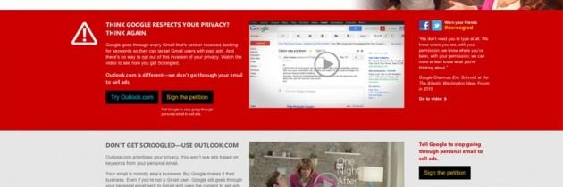 Gmail はプライバシーを侵害している?「Gmailにだまされるな」キャンペーン